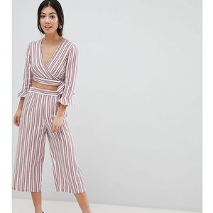 Miss selfridge petite stripe culotte cropped trousers - multi