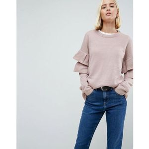 tulip jumper with double frill sleeve - pink, Brave soul, 34-40