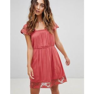 wendy lace hems dress - red marki Pepe jeans