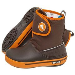 Crocs Trzewiki crocband ii.5 gust boot kids espresso-orange 12905 (cr43-b)