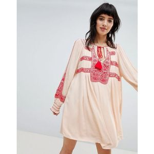 wind willow embroidered mini dress - white, Free people, 34-36