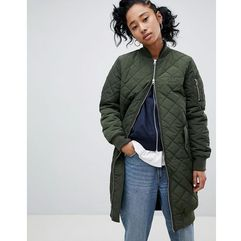 Adidas originals long bomber jacket - green