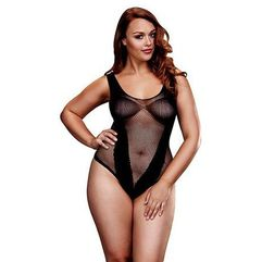 Body - baci fishnet jacquard v teddy queen size, Baci lingerie