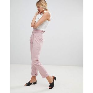 trousers with d-ring belt - pink marki Glamorous