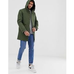 ASOS DESIGN hooded trench coat with shower resistance in green - Green, kolor zielony