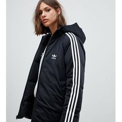 adidas Originals Three Stripe Reversible Coat In Black - Black, kolor czarny