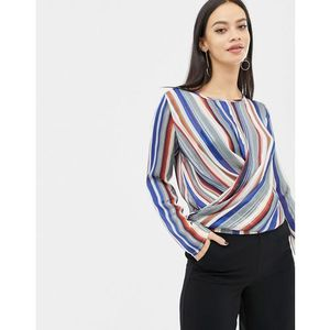 striped wrap front top - multi, Unique21