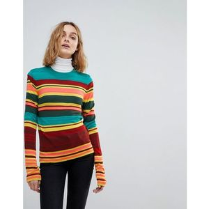 Free People Show Off Your Stripes Jumper - Green