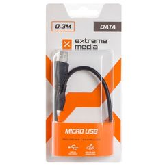 Natec Kabel usb micro am-mbm5p 2.0 0.3m extreme media (blister) (5908257126007)