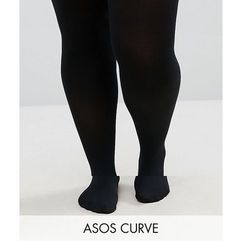 Asos curve 2 pack 120 denier tights - black