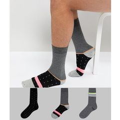 ASOS DESIGN socks with neon stripes & dots 3 pack - Multi