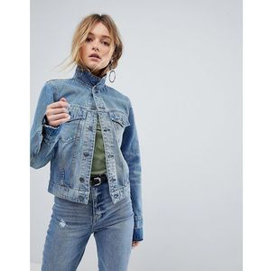Cheap Monday Vintage Wash Denim Trucker Jacket - Blue