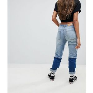 Noisy may two tone denim jean - blue