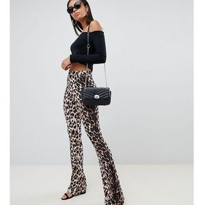 Asos design tall flare leggings in animal print - multi, Asos tall