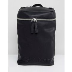 Calvin klein embossed logo top zip backpack - black