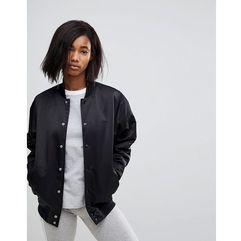 Adidas Originals Popper Bomber Jacket In Black - Black