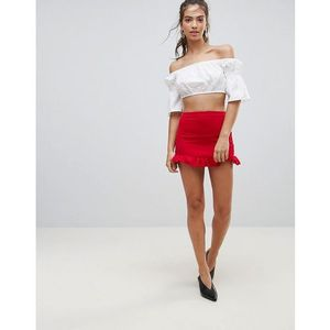 Lasula Frill Bottom Skirt - Red