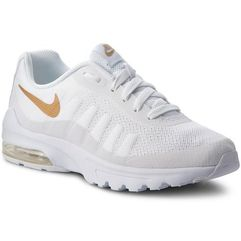 Nike Buty - air max invigor (gs) 749572 100 white/metallic gold