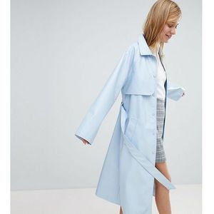 vinyl trench coat - blue marki Monki