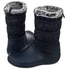 Crocs Śniegowce crocband winter boot w navy 205314-410 (cr155-a)