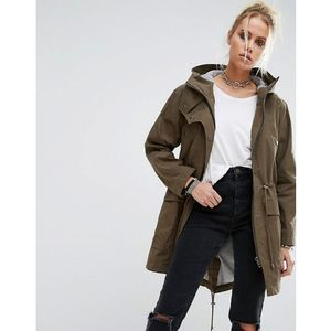 Asos summer parka with jersey lining - green
