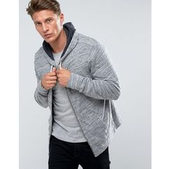 Abercrombie & fitch zipfront hoodie sweat white label in grey - grey