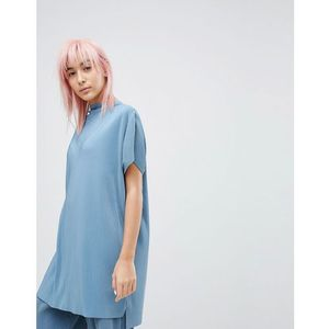 pleated co ord top - blue marki Weekday