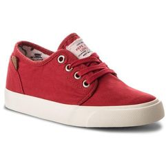 Tenisówki - traveler washed pbs30354 crispy red 241 marki Pepe jeans