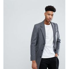 Asos tall wool mix overcoat in light grey - grey
