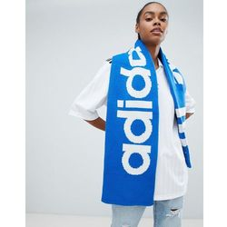 adidas Originals Trefoil Logo Scarf In Blue - Red