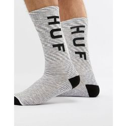 Huf original logo socks in white melange - white