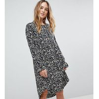 Y.A.S Tall Sunia Ditsy Floral Print Dress - Brown
